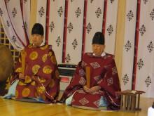 今井泰(空手部指導員)・祐(部OB)宮司様親子に祝詞を奏上していただきました。